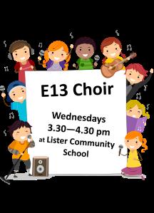 E13 choir flyer 2014